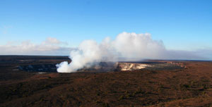 Hiking inside Hawaii Volcanoes National Park