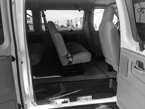 Tour van inside